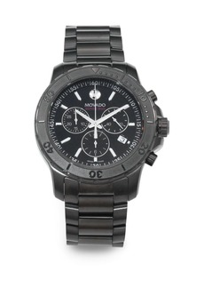 Movado Black PVD-Finished Stainless Steel Chronograph Watch