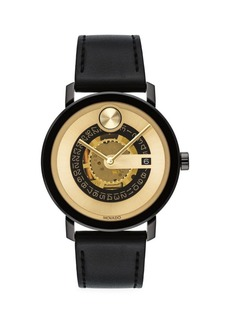 Movado Bold Evolution Goldtone Exposed Movement Watch