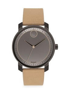 Movado Bold Gunmetal Grey and Beige Watch