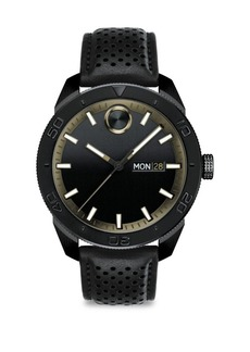 Movado Bold Leather Bracelet Watch