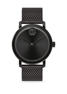 Movado Bold Round Ionic-Plated Black Steel Bracelet Watch