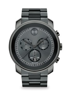 Movado Bold Steel Chronograph Watch