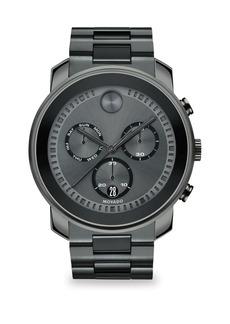 Movado Bold Steel Chronograph Watch
