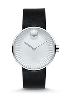 Movado Edge Stainless Steel & Rubber Strap Watch