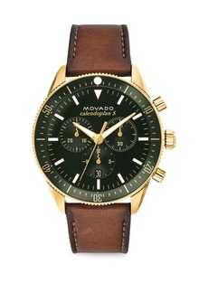 Heritage Leather Strap Chronograph Watch