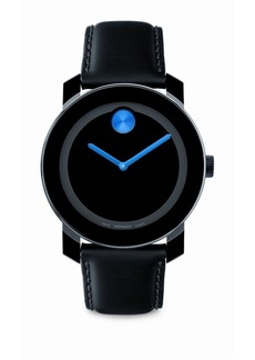 Movado Large Bold Watch/Blue Detail