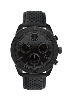 Movado Men's Bold Sport Watch with Black Leather Strap