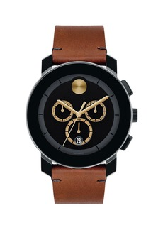 Movado Men's Bold TR-90 Chronograph Watch With Leather Strap