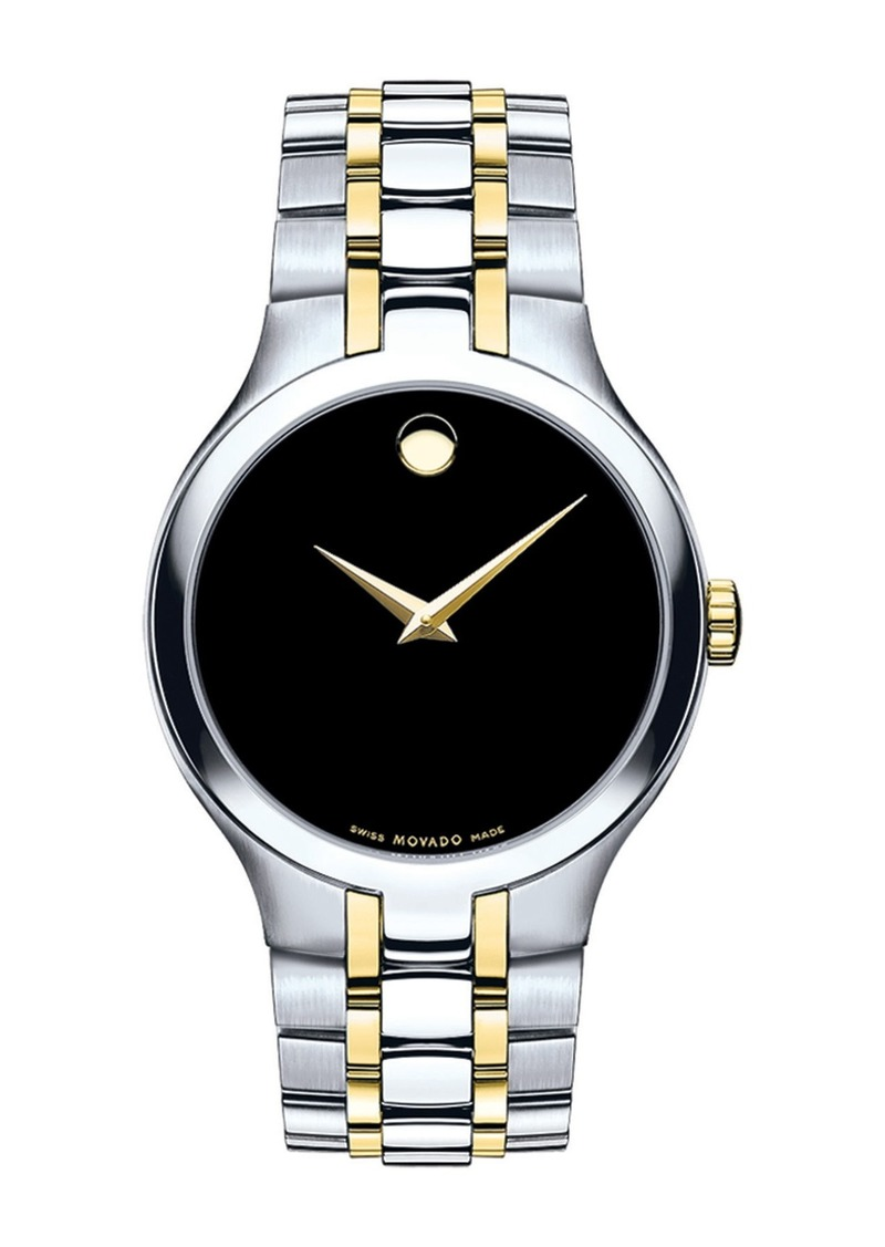 Movado Men's Museum Swiss Quartz Two-Tone Bracelet Watch, 39mm