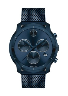 Movado 44mm Bold Watch with Mesh Bracelet