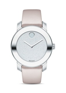 Movado BOLD Blush Leather Strap Watch, 36mm