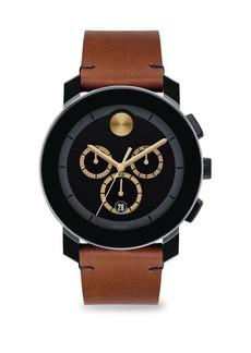 Movado Bold Bold 3600540 Chronograph Leather Strap Watch