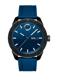 Movado BOLD Sport Black Ion-Plated Case, Blue Strap Watch