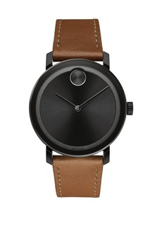 Movado BOLD Evolution Stainless Steel & Leather-Strap Watch