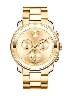 Movado Bold Bold Goldtone IP Stainless Steel Chronograph Bracelet Watch