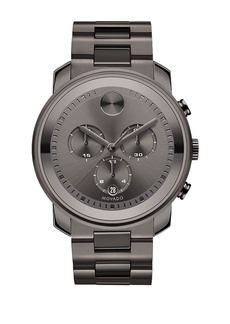 Movado Bold Bold Gunmetal Grey IP Stainless Steel Chronograph Bracelet Watch