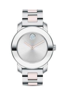 Movado BOLD Ceramic & Stainless Steel Bracelet Watch, 36mm