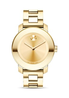 Movado BOLD Medium Yellow Gold Plated Stainless Steel Watch, 36mm