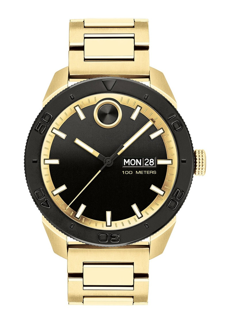 Movado Bold Men's Bold Sport Bracelet Watch  Gold