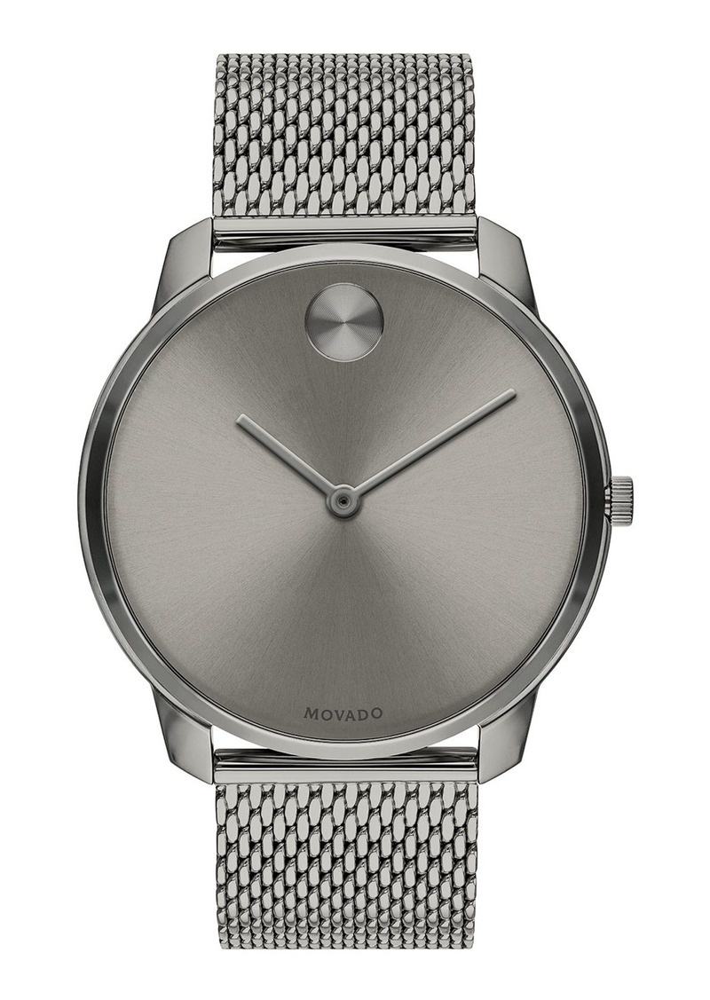 Movado Bold Men's Bold Thin Mesh-Bracelet Watch  Gray
