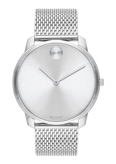 Movado Bold Men's Bold Thin Mesh-Bracelet Watch  Silver