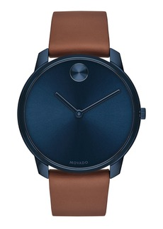 Movado Bold Men's Bold Watch with Leather Strap