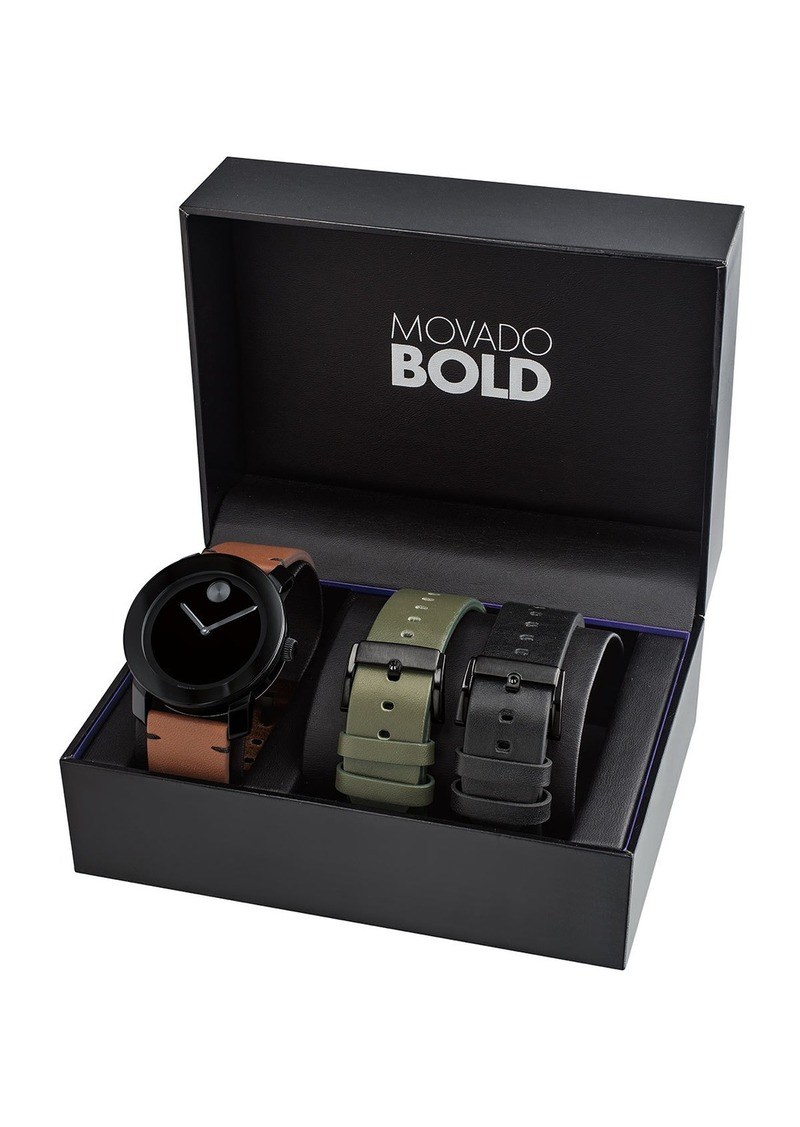 Movado Bold Men's TR-90 Watch Gift Set