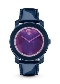 Movado BOLD Navy Watch with Purple Watercolor Sunray Dial, 42mm - 100% Exclusive