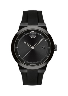 Movado Bold Stainless Steel & Silicone Strap-Watch