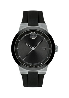 Movado Bold Stainless Steel & Silicone-Strap Watch