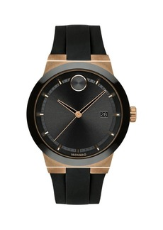 Movado Bold Stainless Steel & Silicone Watch