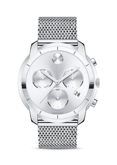 Movado BOLD Stainless Steel Mesh Bracelet Chronograph, 44mm