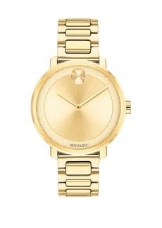 Movado Bold Stainless Steel Round Bracelet Watch