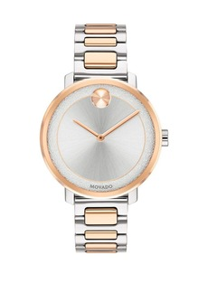 Movado Bold Stainless Steel Two-Toned Bracelet Watch