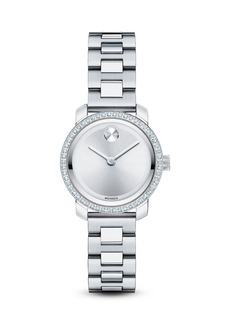 Movado BOLD Stainless Steel Watch with Diamonds, 25mm