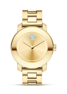 Movado BOLD Yellow Gold Plated Museum Dial Watch, 36mm