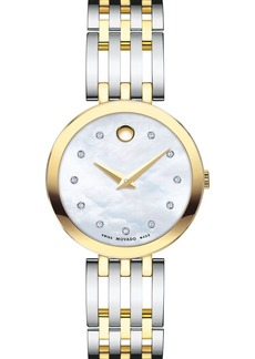 Movado Esperanza Diamond Two-Tone Watch, 28mm