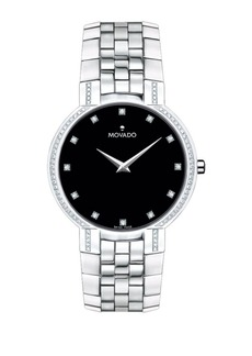 Movado Faceto Stainless Steel Watch
