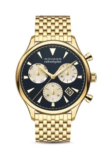 Movado Heritage Series Calendoplan Watch, 43mm