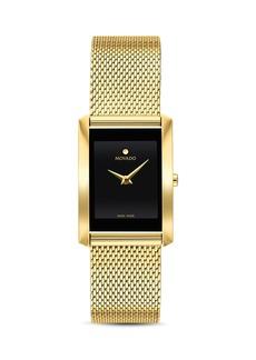 Movado La Nouvelle Gold-Tone Mesh Watch, 21mm x 29mm