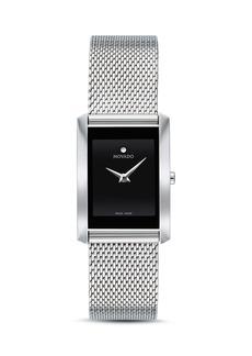 Movado La Nouvelle Silver-Tone Mesh Watch, 21mm x 29mm