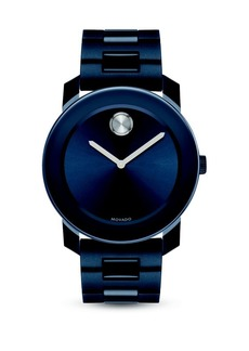 Movado Large Bold Navy Stainless Steel Bracelet Watch