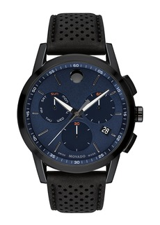 Movado Men's Bold Sport Watch with Leather Strap