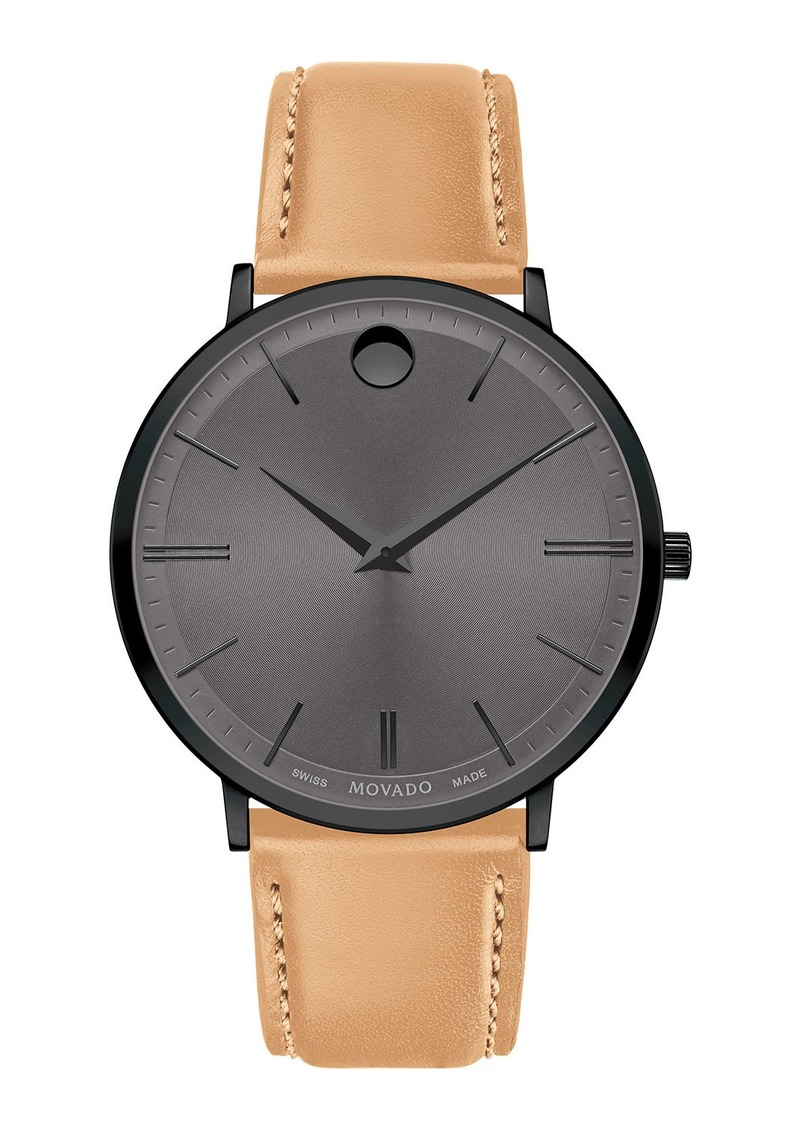 Movado Men's Ultra Slim Leather Watch