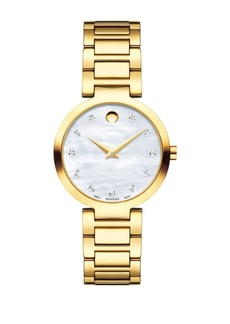 Movado Modern Classic Diamond Quartz Watch
