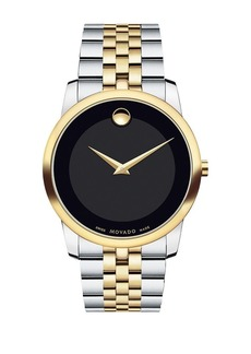 Movado Museum Black Dial Two-Tone PVD Stainless Steel Watch