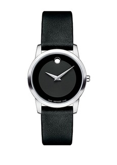 Movado Museum Classic Stainless Steel Leather Strap Watch