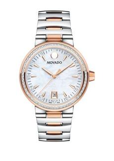 Movado Vizio Stainless Steel Diamond Accented Bracelet Watch, 0.432 TCW