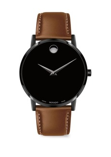 Movado Museum Classic Leather Analog Watch