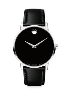 Movado Museum Classic Leather-Strap Watch